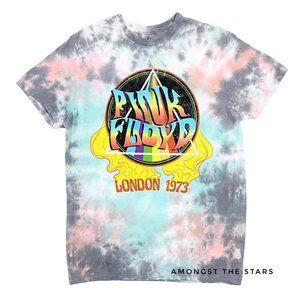 Pink Floyd London 1973 Tie Dye Band T-Shirt Tee